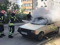 В Энергодаре горела «Таврия»: больше всего досталось салону (Фото)