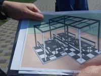 На центральном пляже Запорожья установили столы для шахмат