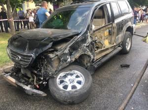 В сети появилось видео, снятое за считанные минуты до масштабного ДТП, устроенного пьяным водителем «Лексуса»