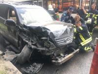 В центре Запорожья столкнулись 10 авто – есть потерпевшие