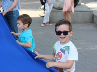 «Окно в Европу»: В центре Запорожья провели праздничный флешмоб (Фото)