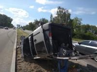 В аварии с перевернувшимся авто на Набережной пострадала женщина с ребенком – подробности