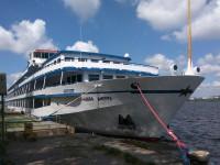 После длительного перерыва в Запорожье снова прибыл круизный лайнер с иностранцами