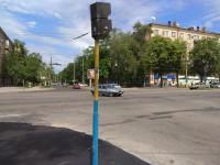 На перекрестке в центре Запорожья потрескался новый тротуар (Фото)