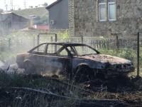 В Бердянске горели частный дом вместе с авто