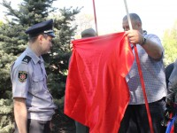 В центре Запорожья приверженцы коммунистов отметили Первомай митингом (Фото)