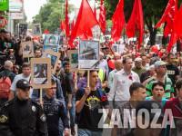 В Запорожье участники акции «Полка Победы» пытались перекричать гимн Украины советскими песнями (Фоторепортаж)