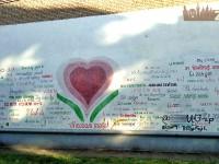 «Стену любви» в центре Запорожья «украсили» рекламой наркотиков
