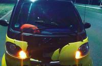 На запорожской Набережной отлетевшее  колесо разбило «Smart» (Видео)