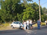 Историческое ДТП: В Бердянске помяло  электрокар