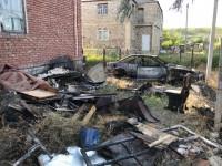 В Запорожской области сгорели дом с машиной, принадлежащие ветерану АТО и чемпиону «Игр непокоренных»