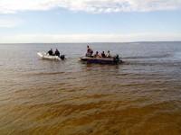 В Запорожской области возле островов затонула лодка с пассажирами