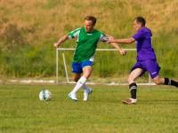 Запорожский нардеп не забил пенальти, играя в футбольном матче за журналистов (Фото)