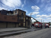 В Запорожье горит ресторан «Наири» (Фото)