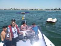 На запорожском курорте водная полиция спасла отдыхающих с перевернувшегося катамарана