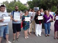 «Свободу политзаключенным»: запорожцы вышли на акцию в поддержку Сенцова (Фото)
