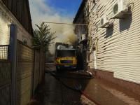 В Запорожской области сгорел грузовик с бытовой техникой (Фото)
