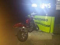 На запорожской Набережной мотоциклист влетел в щит заправки