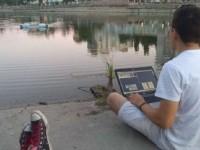 Запорожские школьники собрали робота-мусорщика для рек
