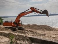 Правобережный пляж Запорожья делают шире – как продвигается реконструкция