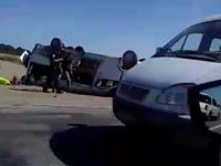 Под Запорожьем неуправляемый грузовик влетел в маршрутку – есть погибшие