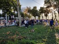 Митингующие снесли забор вокруг сквера Яланского – произошла потасовка (Видео)