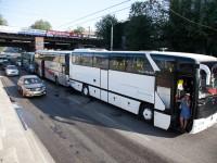 В полиции назвали причину ДТП с тремя автобусами, которые везли детей из лагеря