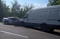 На трассе под Запорожьем авто на еврономерах попало в ДТП (Фото)
