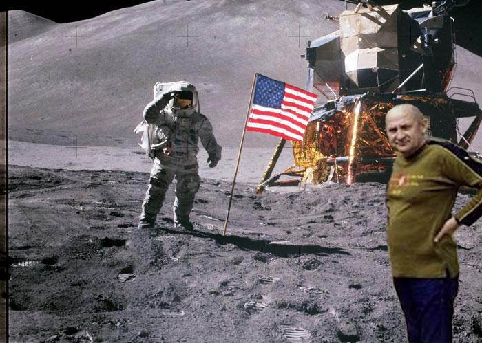Авдеенко и Армстронг на Луне