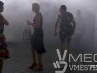 В центре Запорожья пассажиры в панике покидали задымившуюся маршрутку