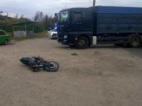 Под Запорожьем грузовик влетел в мотоцикл с детьми