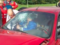 На Хортице в ДТП пострадали два человека (Фото)