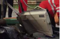 На трассе под Запорожьем в ДТП разорвало «Жигули» (Видео)