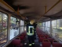 В Запорожье спустя два дня после последнего случая снова горел трамвай