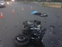 Опубликованы фото с аварии на Бабурке,в которой погиб мотоциклист