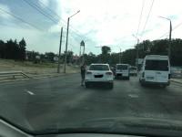 Тренер «Зари» попал в аварию при въезде на ДнепроГЭС