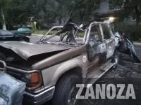 В результате поджога авто запорожского блогера пострадали еще две машины
