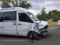 На  Набережной попала в аварию машрутка, ехавшая из Кирилловки