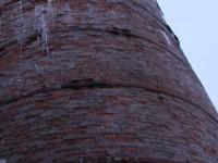 В Запорожской области ветер разрушил трубу котельной,обслуживающую 1000 человек