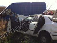 На трассе под Энергодаром в аварии смяло «Ланос»: погиб человек (Фото)
