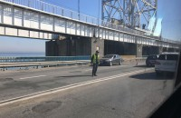 У маршрутки на плотине ДнепроГЭС в час-пик отвалилось колесо