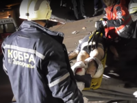 В Запорожье мужчина разбился, упав на крышу магазина (Видео)