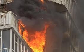 Пока никого не было дома: в спальном районе Запорожья горел балкон