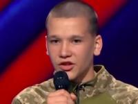 Ученик военного лицея из Запорожской области покорил судей «Х-фактора» патриотичным рэпом (Видео)