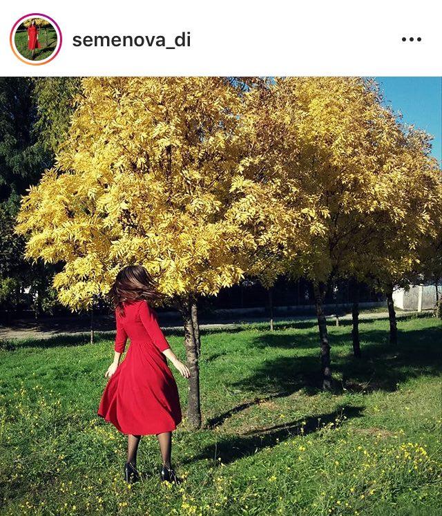 семенова красное платье