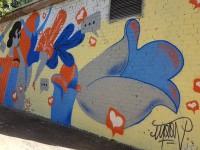 В Запорожье борются с рекламой наркотиков, рисуя муралы (Фото)