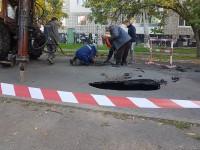 На запорожском курорте провалился асфальт – движение ограничили (Фото)