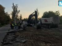 Половина Энергодара снова без света: на этот раз из-за ремонта дороги