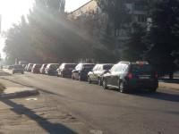 Жители Правого берега не могут выехать в центр из-за огромной пробки