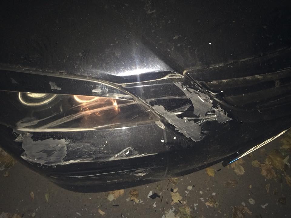 В машину продюсера запорожского телеканала врезался пьяный водитель